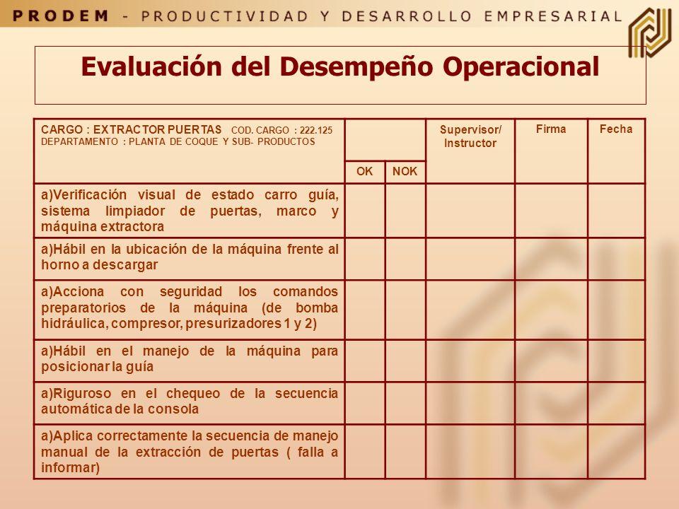 Evaluación del Desempeño Operacional