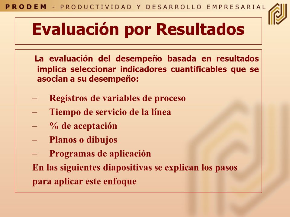 Evaluación por Resultados