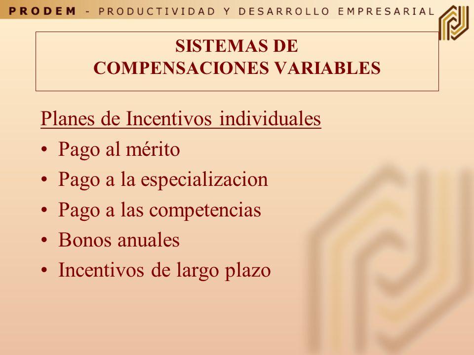 SISTEMAS DE COMPENSACIONES VARIABLES