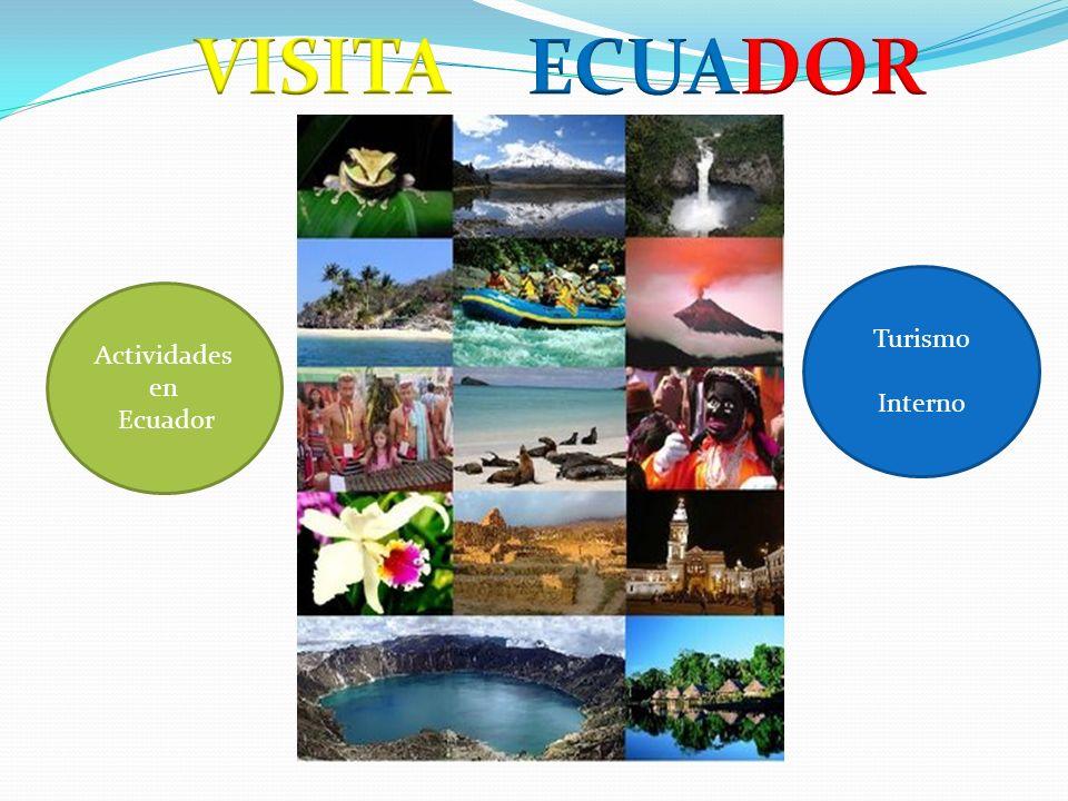 VISITA ECUADOR Turismo Interno Actividades en Ecuador