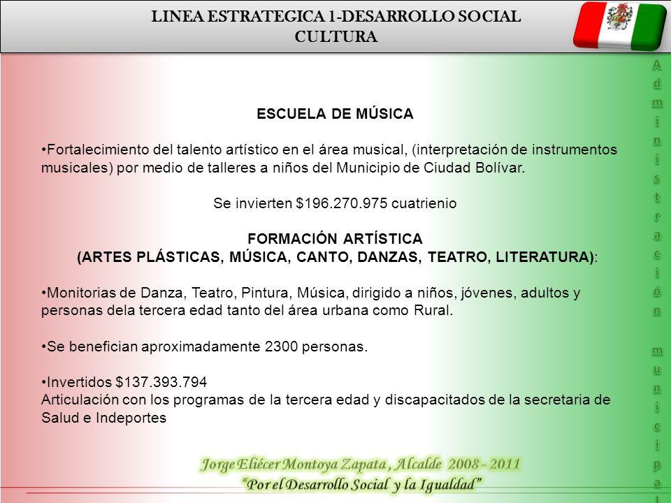 LINEA ESTRATEGICA 1-DESARROLLO SOCIAL CULTURA
