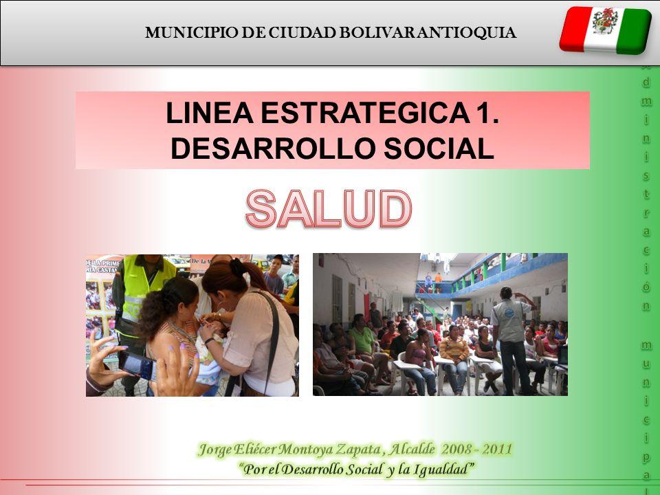 SALUD LINEA ESTRATEGICA 1. DESARROLLO SOCIAL