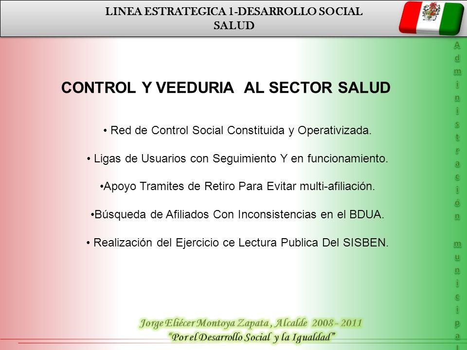 CONTROL Y VEEDURIA AL SECTOR SALUD