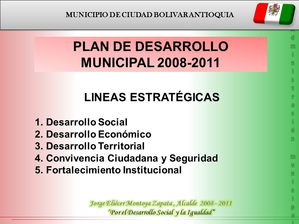 PLAN DE DESARROLLO MUNICIPAL 2008-2011