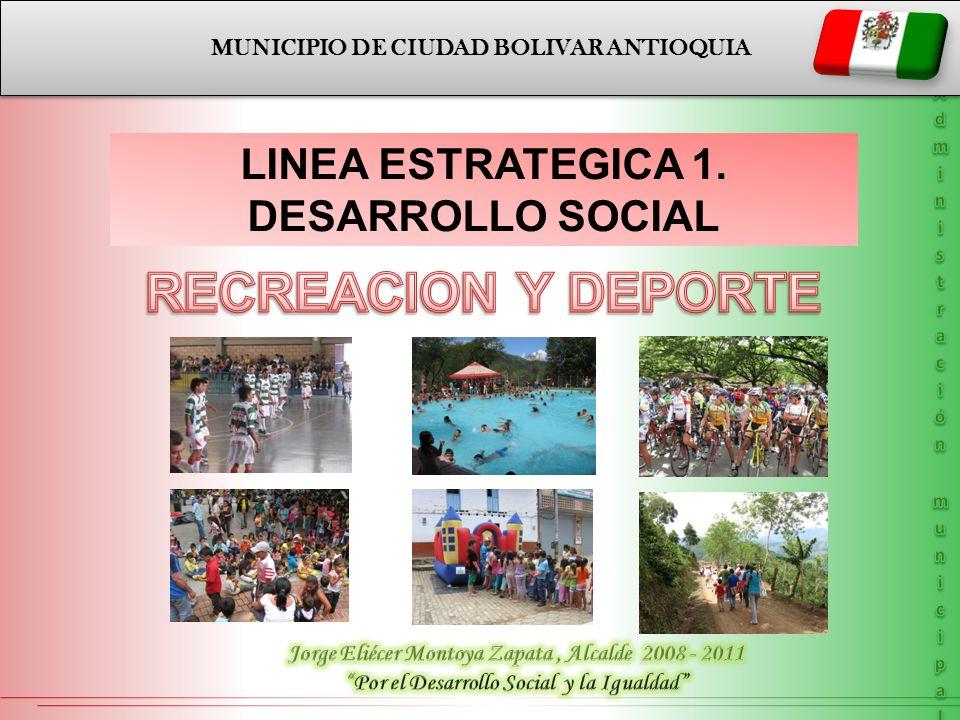 RECREACION Y DEPORTE LINEA ESTRATEGICA 1. DESARROLLO SOCIAL