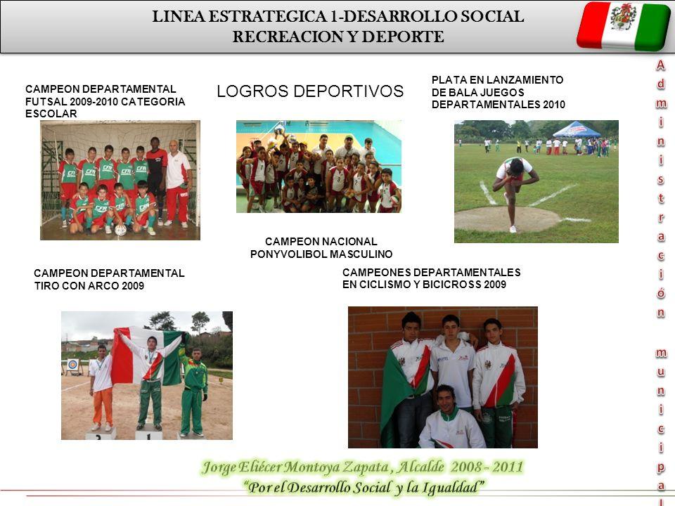 LINEA ESTRATEGICA 1-DESARROLLO SOCIAL RECREACION Y DEPORTE