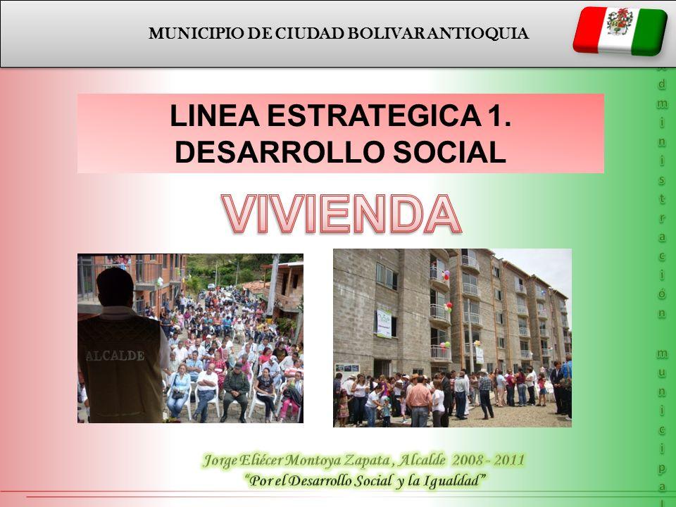VIVIENDA LINEA ESTRATEGICA 1. DESARROLLO SOCIAL