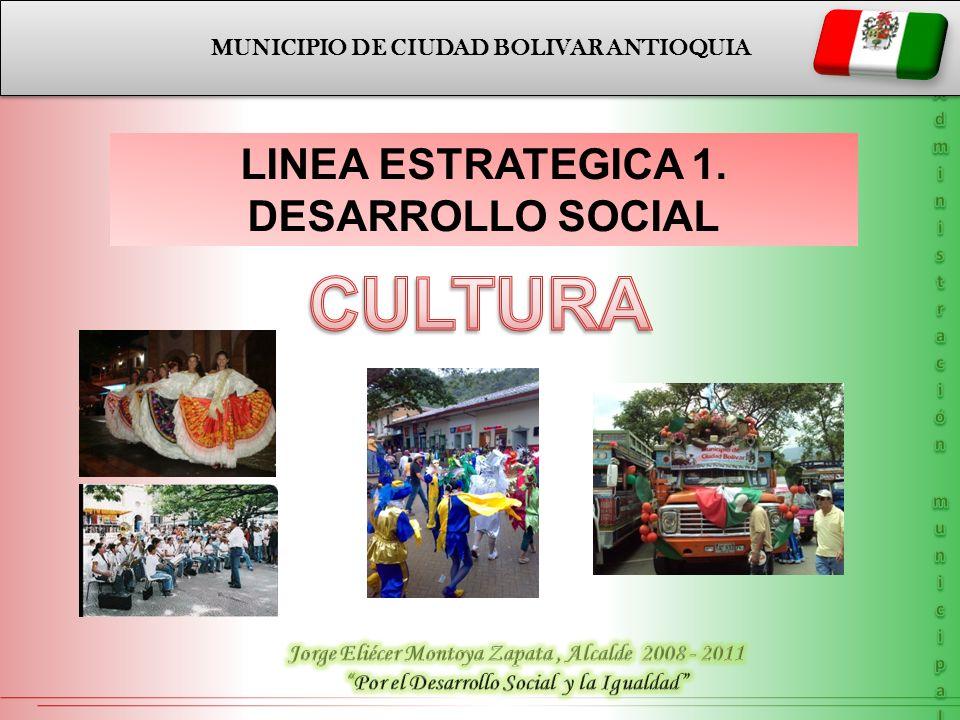 CULTURA LINEA ESTRATEGICA 1. DESARROLLO SOCIAL