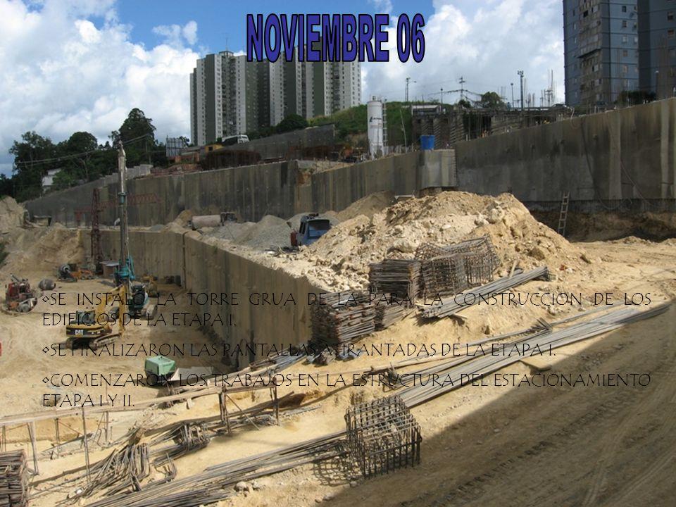 NOVIEMBRE 06 SE INSTALÓ LA TORRE GRUA DE LA PARA LA CONSTRUCCION DE LOS EDIFICIOS DE LA ETAPA I.
