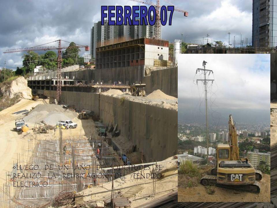 FEBRERO 07 LUEGO DE UN AÑO DE SOLICITUDES SE REALIZÓ LA REUBICACIÓN DEL TENDIDO ELECTRICO.