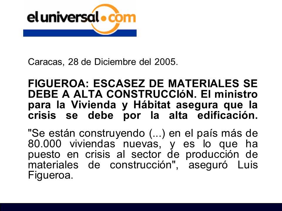 Caracas, 28 de Diciembre del 2005.