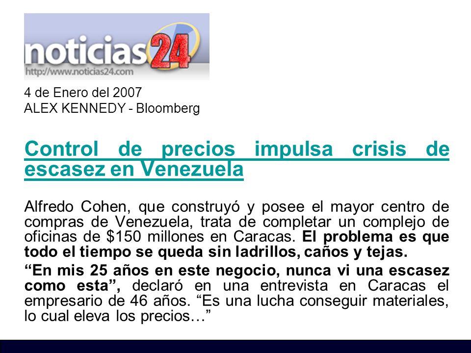 Control de precios impulsa crisis de escasez en Venezuela