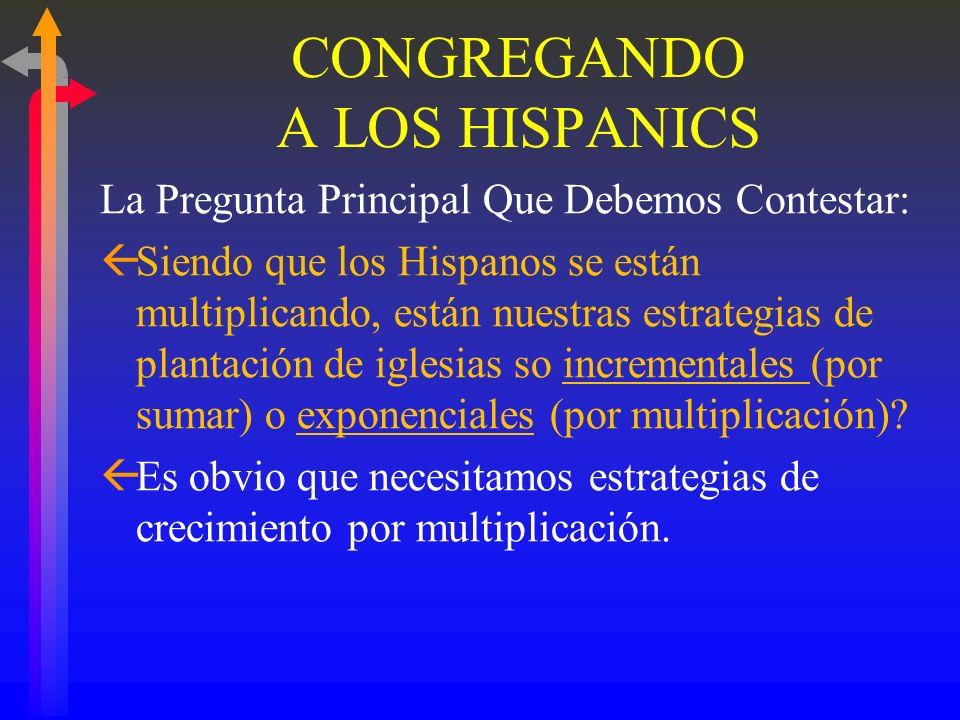 CONGREGANDO A LOS HISPANICS