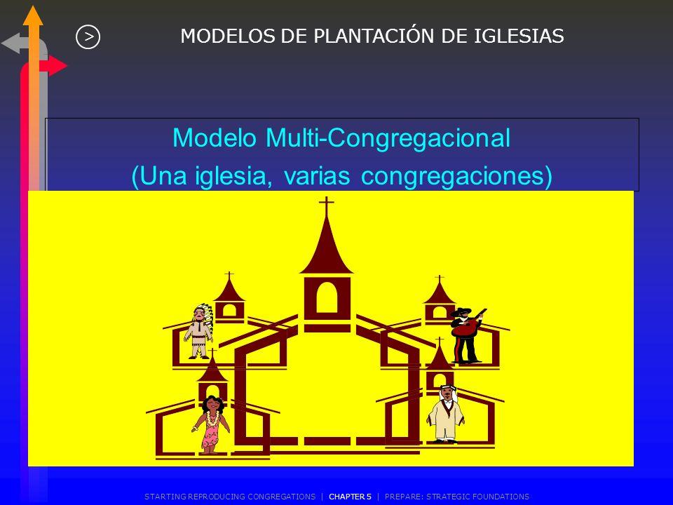 Modelo Multi-Congregacional (Una iglesia, varias congregaciones)