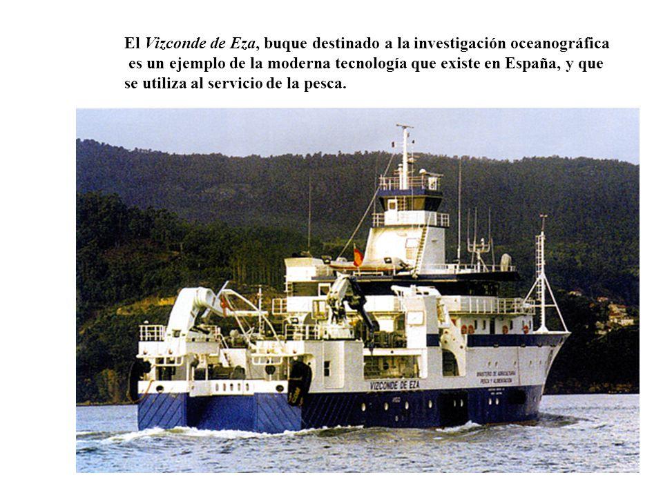 El Vizconde de Eza, buque destinado a la investigación oceanográfica