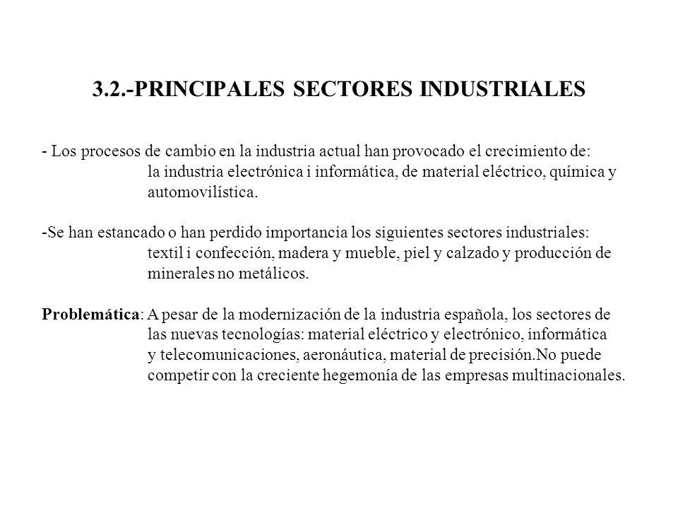 3.2.-PRINCIPALES SECTORES INDUSTRIALES