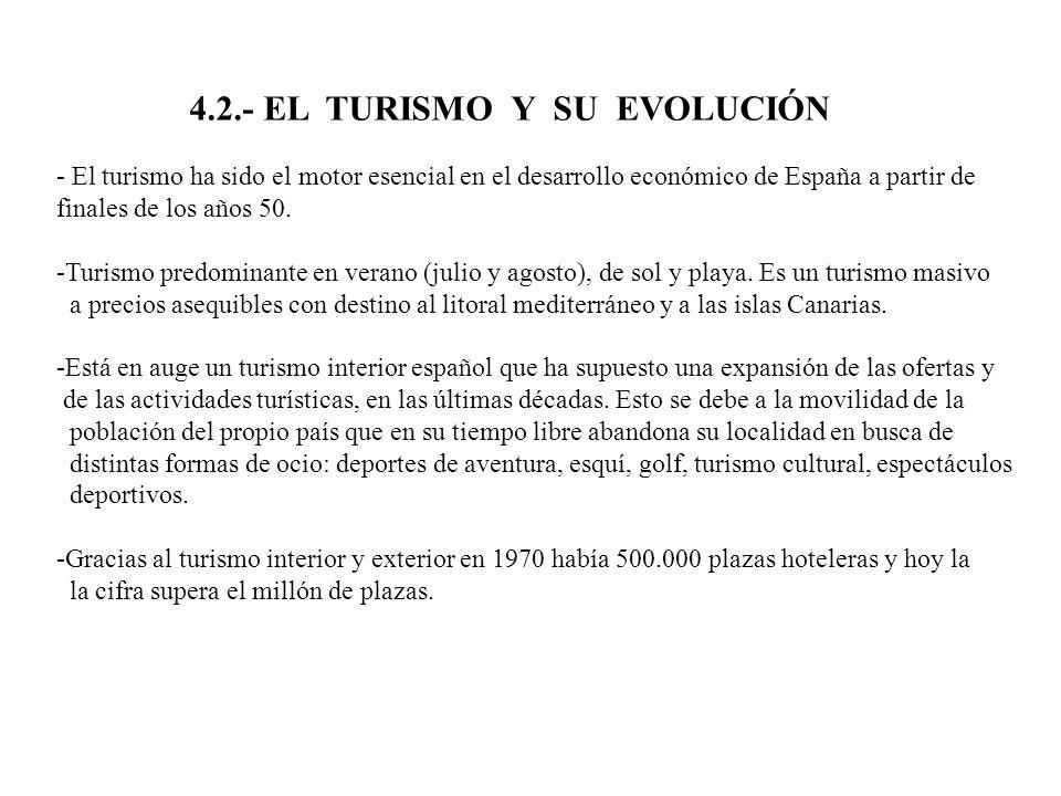 4.2.- EL TURISMO Y SU EVOLUCIÓN