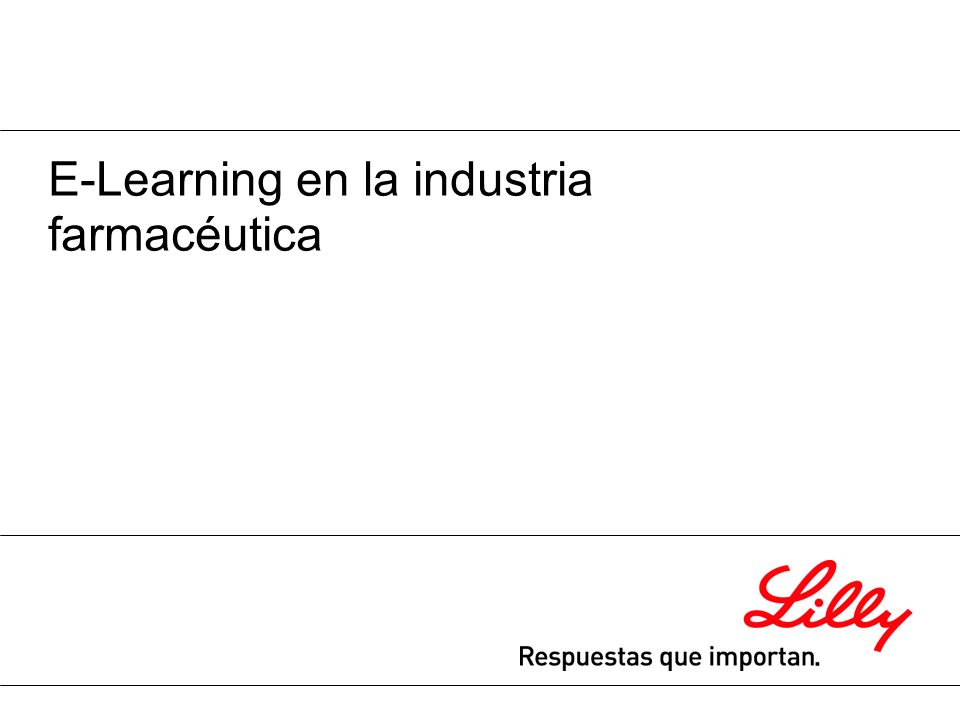 E-Learning en la industria farmacéutica