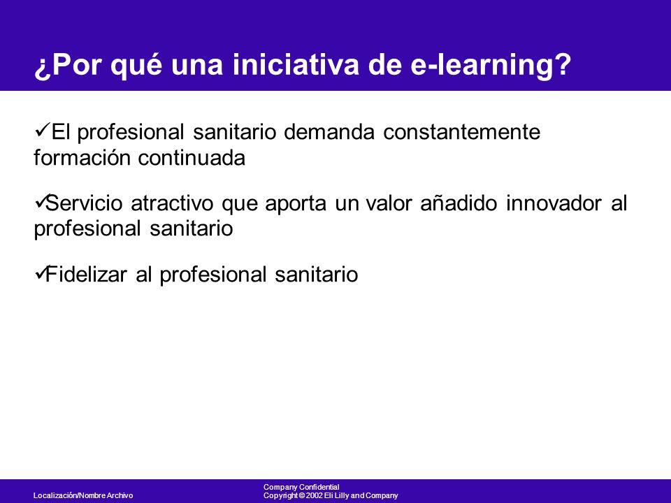 ¿Por qué una iniciativa de e-learning
