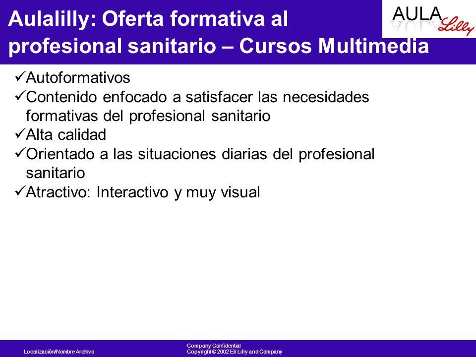Aulalilly: Oferta formativa al profesional sanitario – Cursos Multimedia