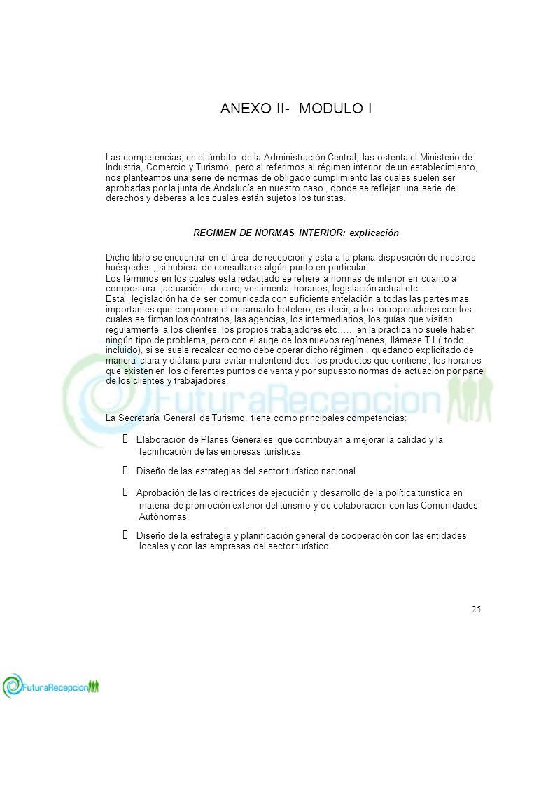 ANEXO II- MODULO I ADMINISTRACIÓN TURÍSTICA C