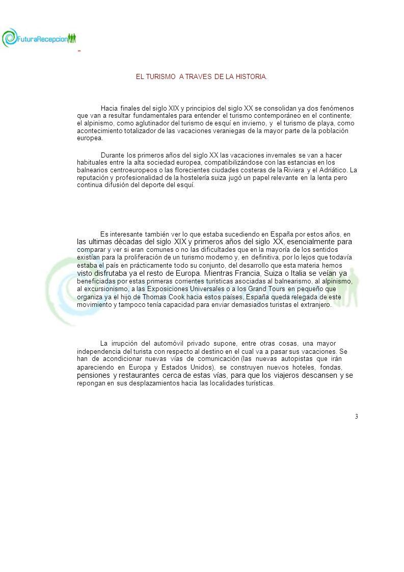 EL TURISMO A TRAVES DE LA HISTORIA.