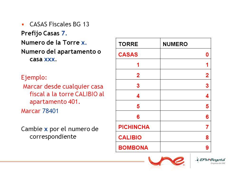 Numero del apartamento o casa xxx.