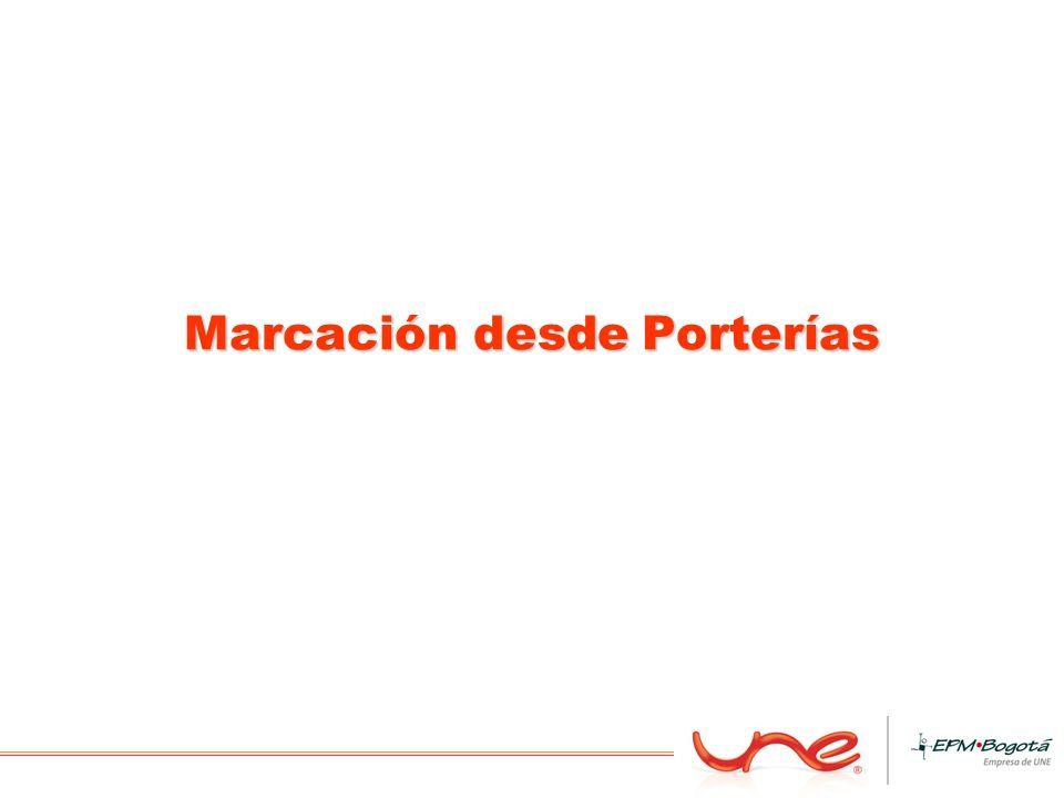 Marcación desde Porterías