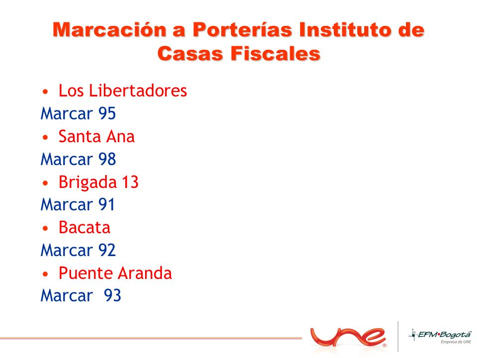 Marcación a Porterías Instituto de Casas Fiscales
