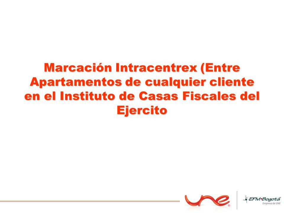 Marcación Intracentrex (Entre Apartamentos de cualquier cliente en el Instituto de Casas Fiscales del Ejercito