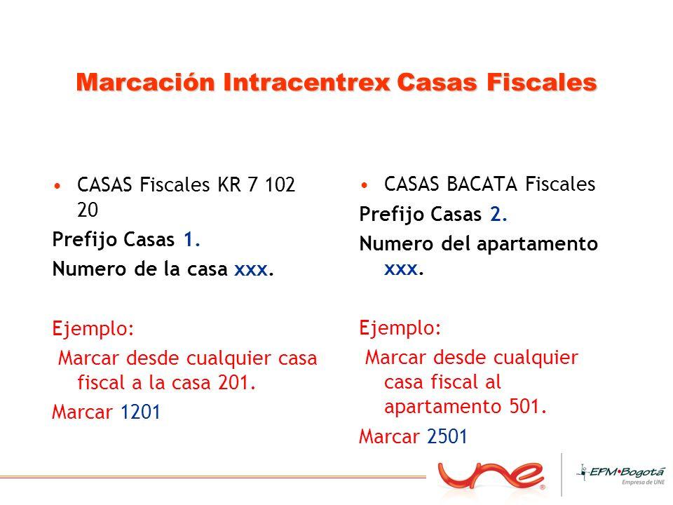 Marcación Intracentrex Casas Fiscales