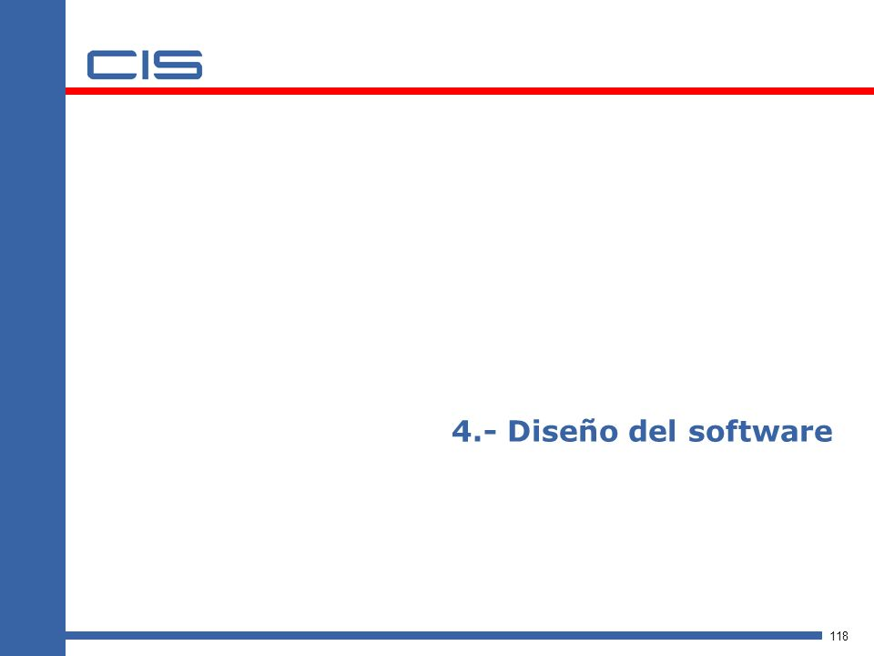 4.- Diseño del software