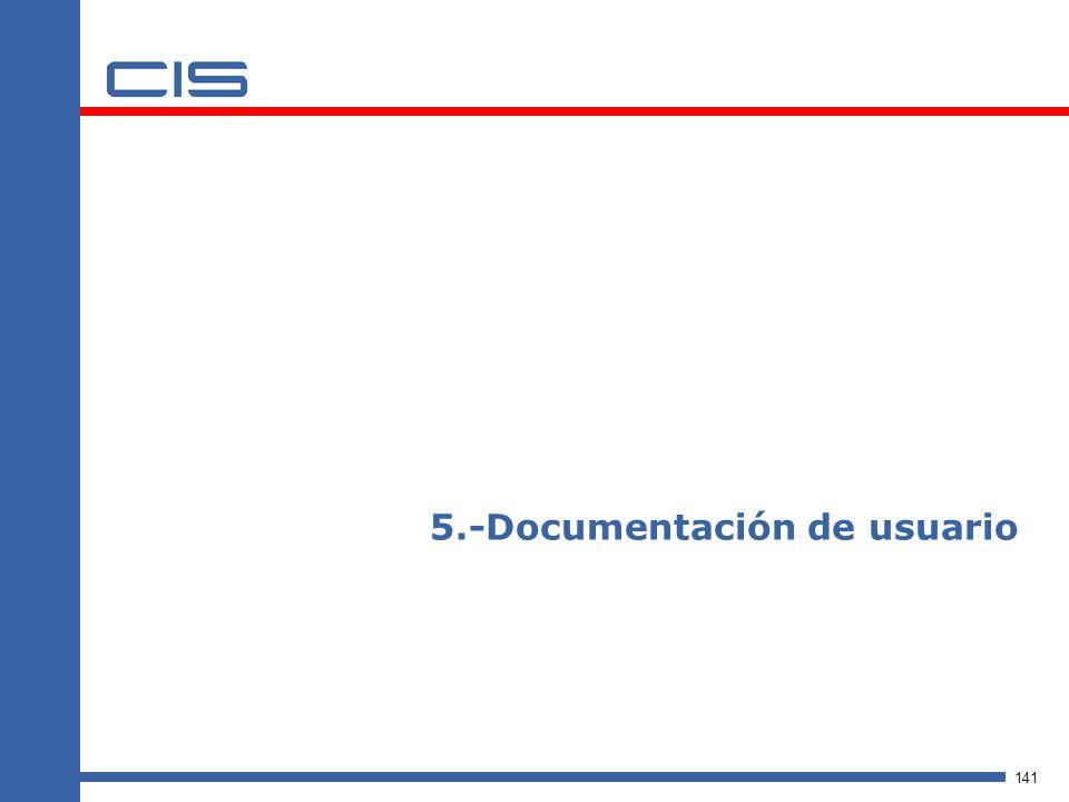 5.-Documentación de usuario