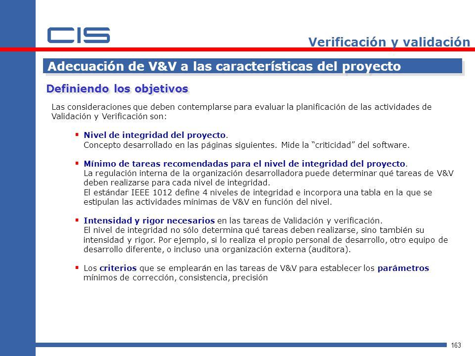 Verificación y validación
