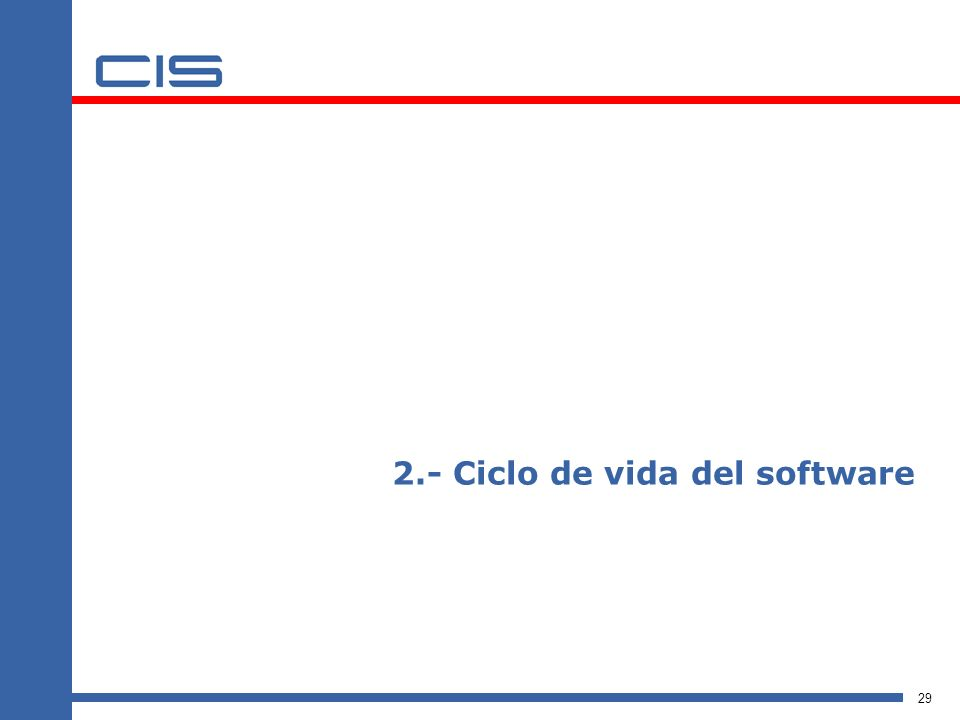 2.- Ciclo de vida del software