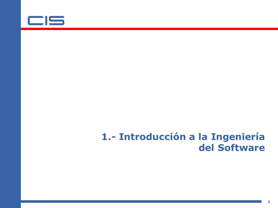 1.- Introducción a la Ingeniería del Software