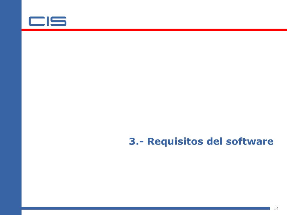 3.- Requisitos del software