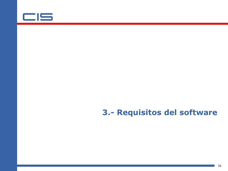 3.- Requisitos del software