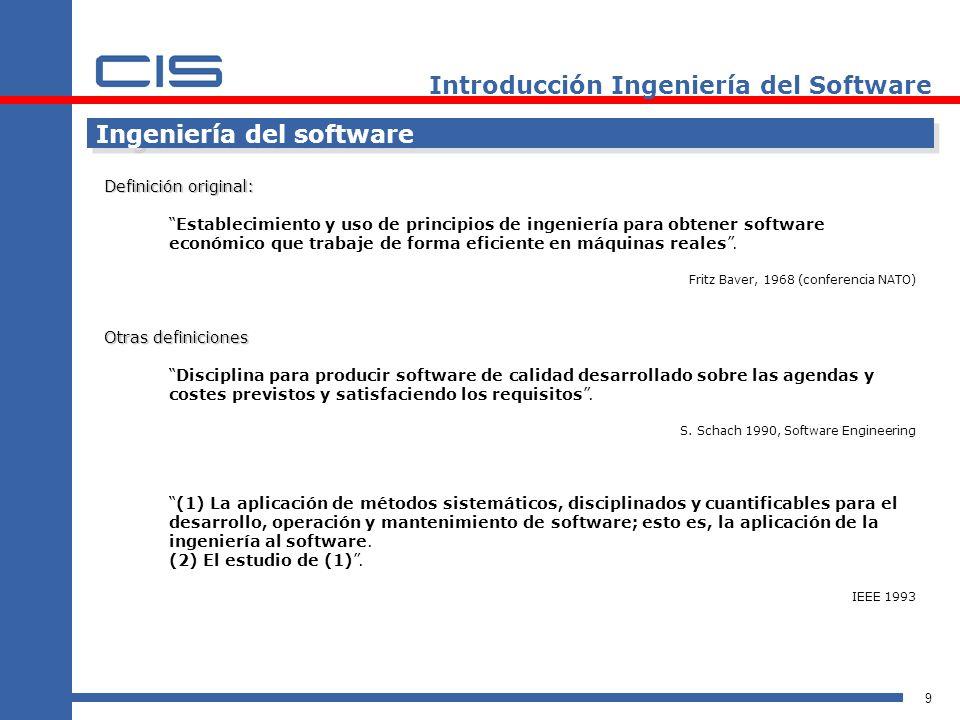 Introducción Ingeniería del Software