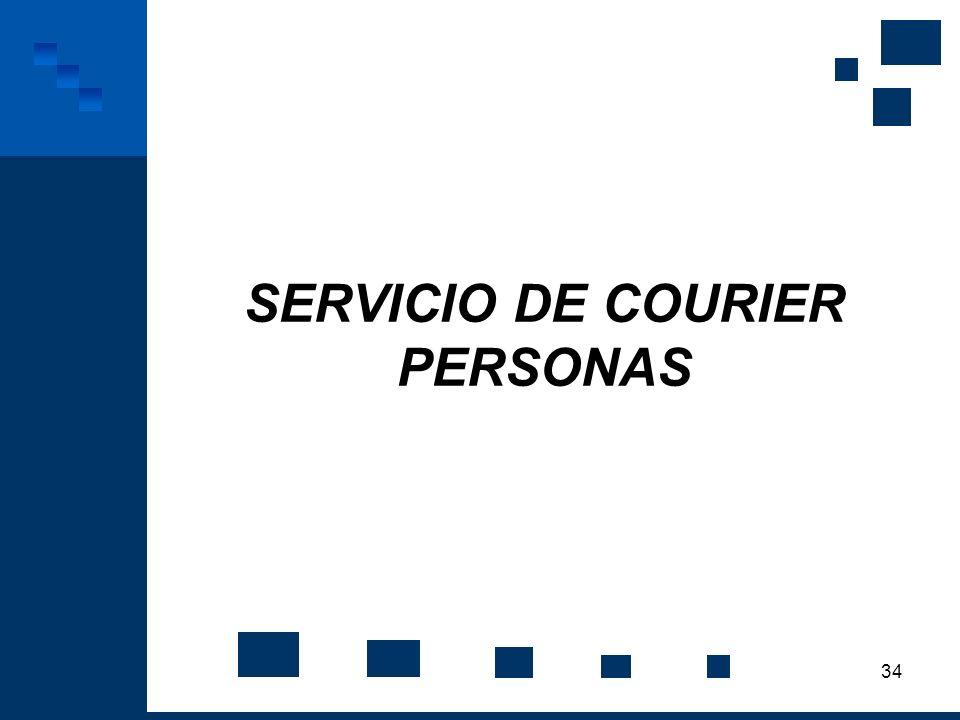 SERVICIO DE COURIER PERSONAS