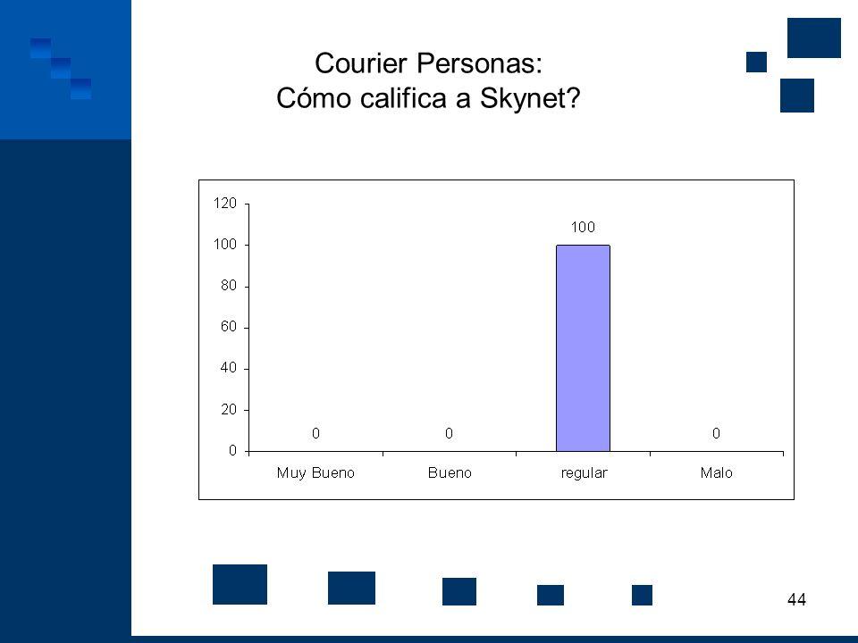 Courier Personas: Cómo califica a Skynet