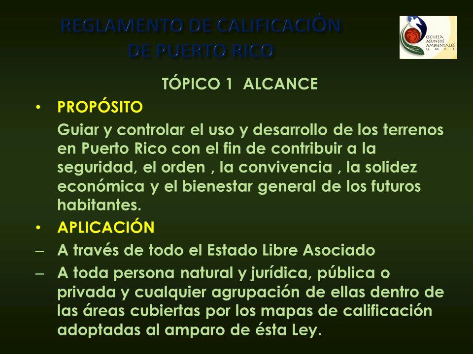 REGLAMENTO DE CALIFICACIÓN DE PUERTO RICO