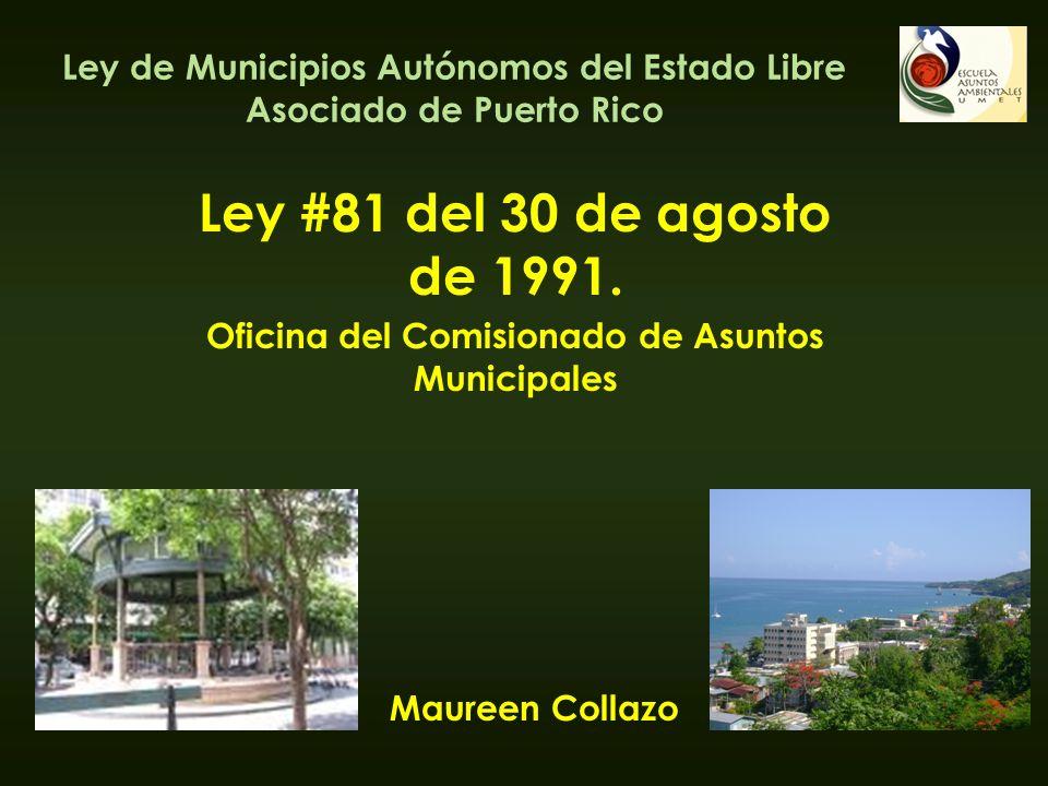 Ley de Municipios Autónomos del Estado Libre Asociado de Puerto Rico