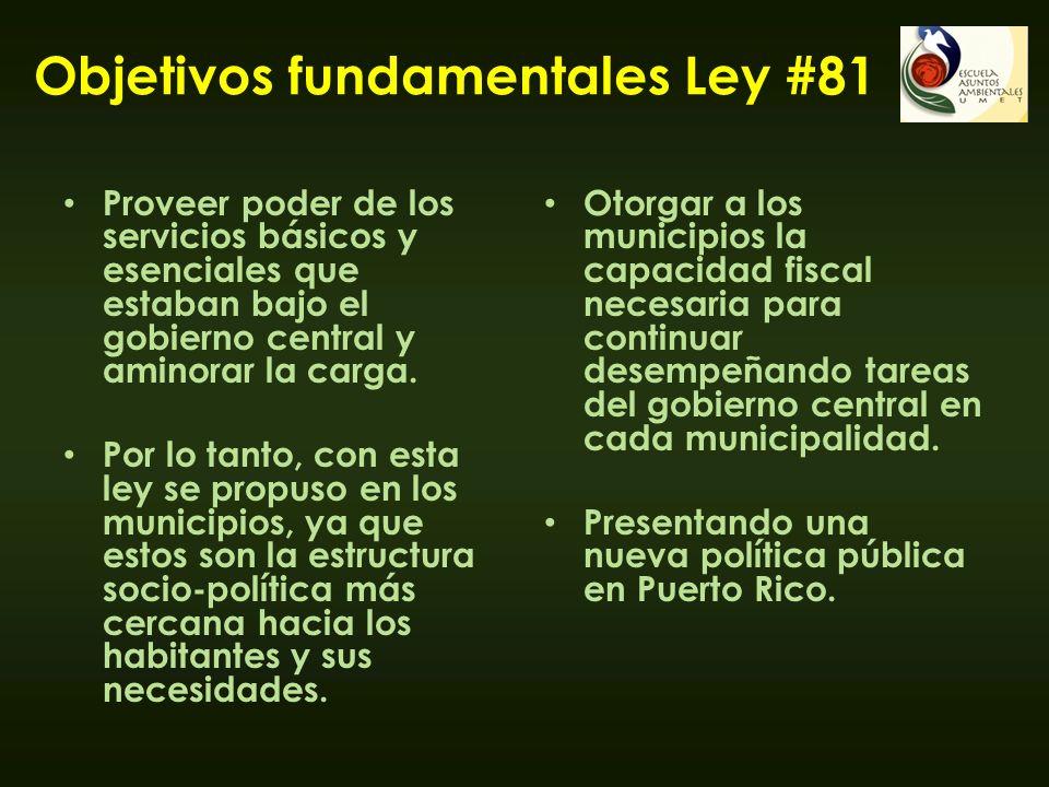 Objetivos fundamentales Ley #81