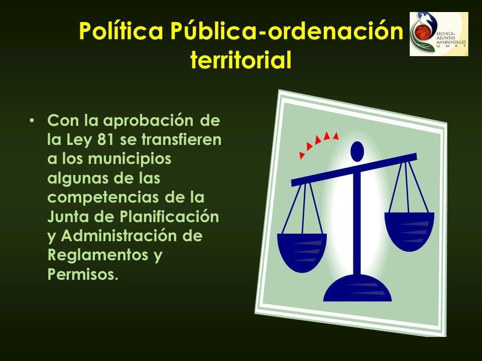 Política Pública-ordenación territorial