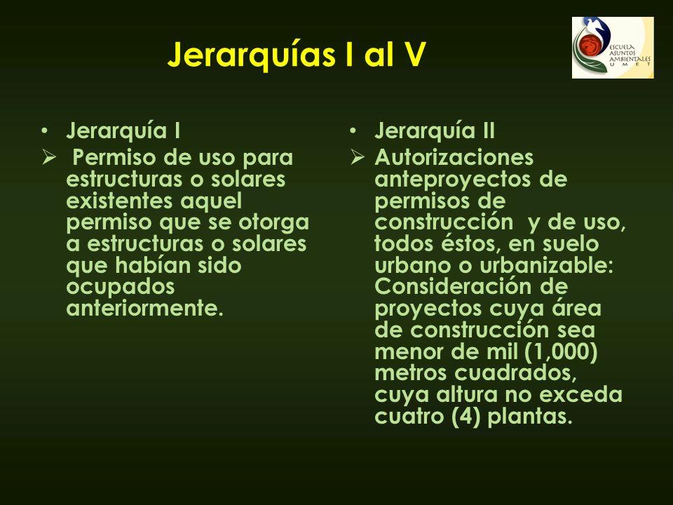 Jerarquías I al V Jerarquía I