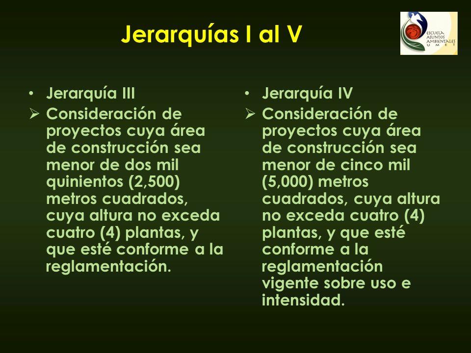 Jerarquías I al V Jerarquía III