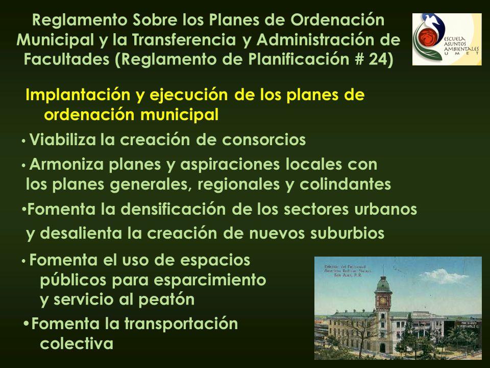 Implantación y ejecución de los planes de ordenación municipal