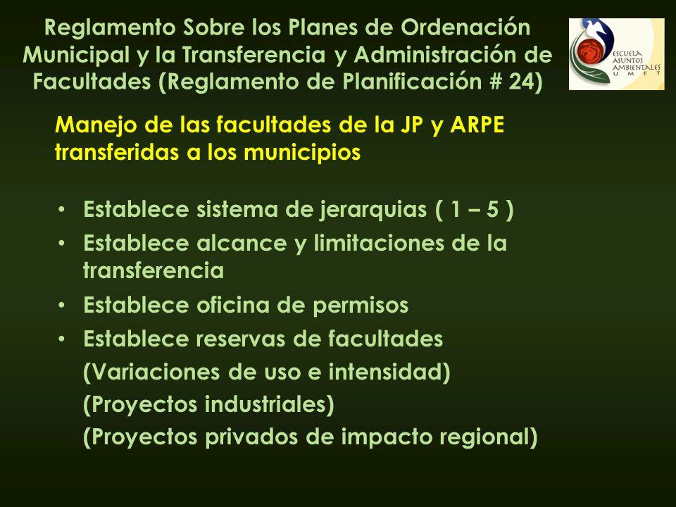 Reglamento Sobre los Planes de Ordenación Municipal y la Transferencia y Administración de Facultades (Reglamento de Planificación # 24)