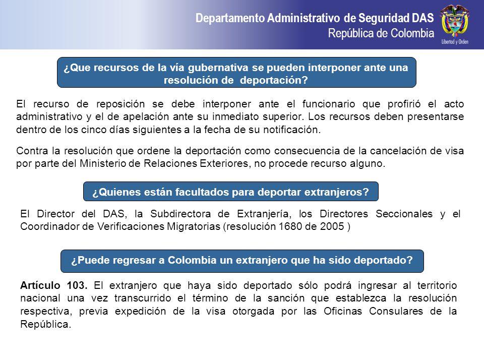 ¿Quienes están facultados para deportar extranjeros